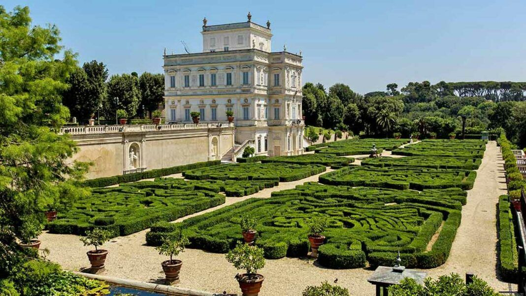 The gardens of Villa Pamphilj