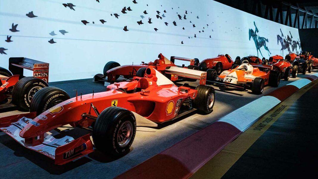 F1 Ferrari cars at MAUTO