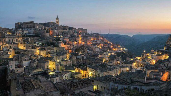 Sunset at Matera's Civita