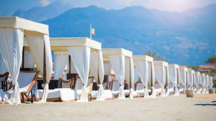 The beach in Forte dei Marmi